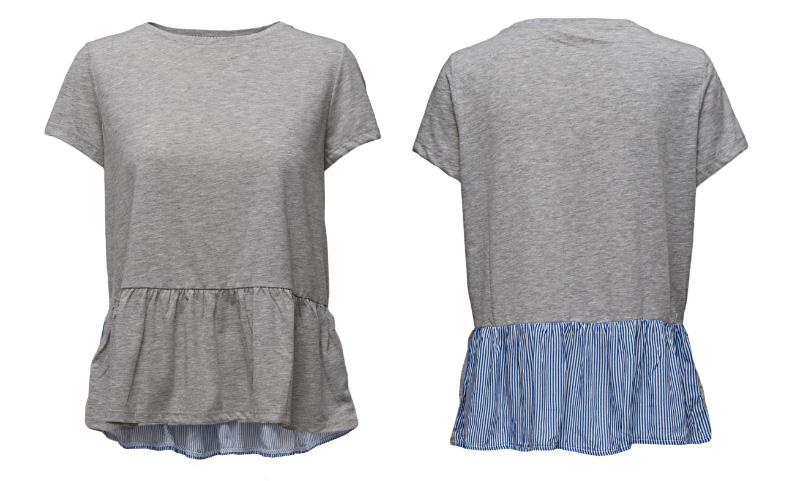grå t-shirt från custommade