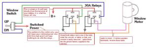 Rewiring power windows to always work  Miata Turbo Forum