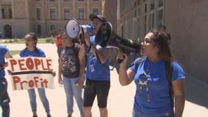 Jacquelyn Garcia with the Mi AZ Campaign calls for an end to separate families