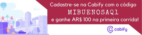 Cadastre-se na Cabify com o código MIBUENOSAQ1 e ganhe $100 pesos na sua primeira corrida!