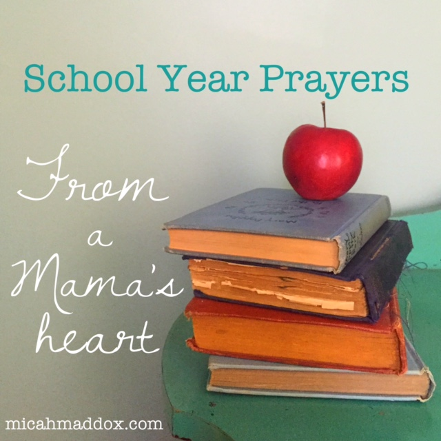 School Year Prayers From A Mama's Heart - December – Micah Maddox