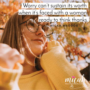 Worry: One Simple Change