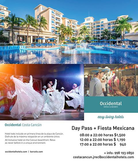 occidental costa Cancun day Pass