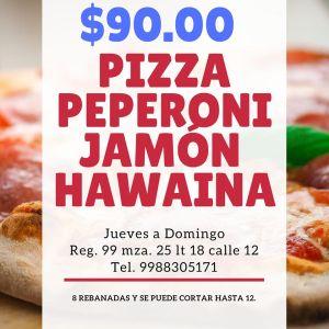 pizzeria - comida a comicilio en Cancún