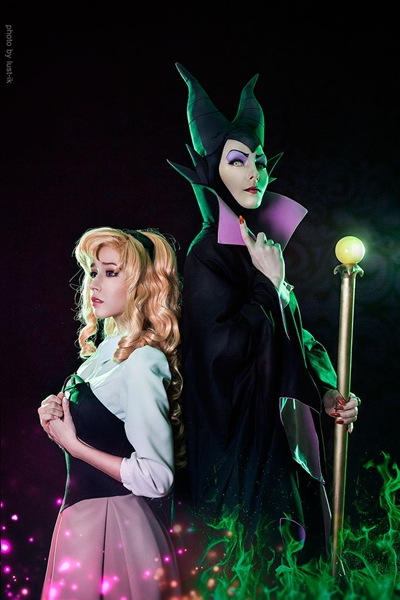 Maleficent and Aurora