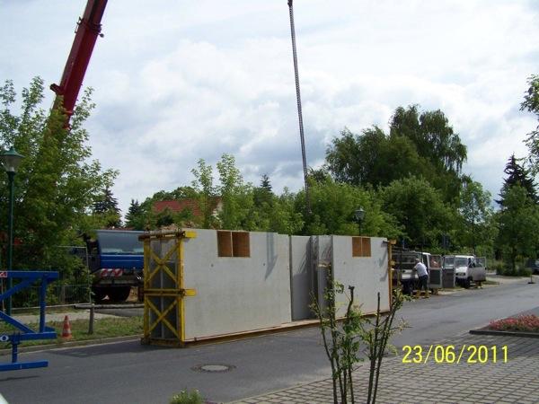 Betonplatte für Kellerwände