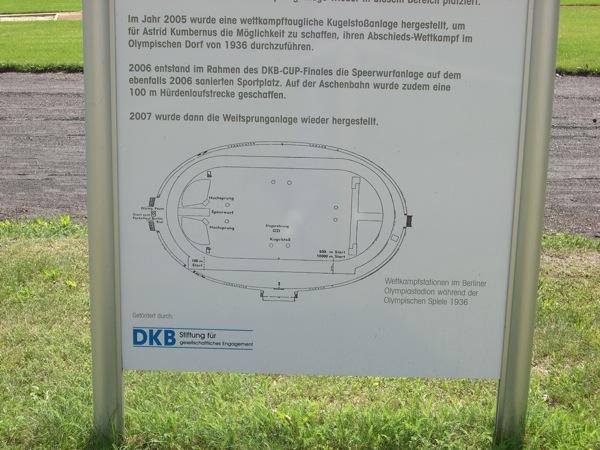 Blick auf den Plan der Sportanlage