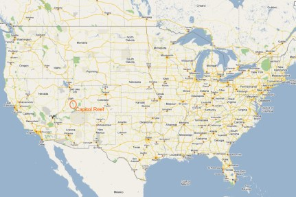 Karte vom Capitol Reef