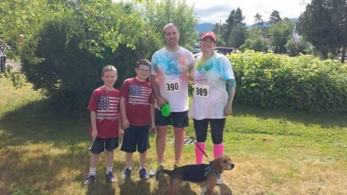 Family Photo at Franconia 5K Color Run