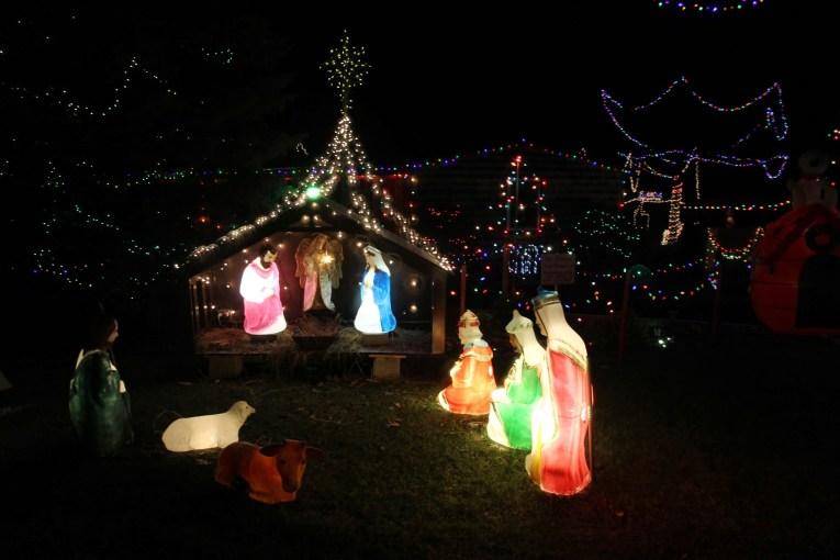 Christmas Manger Outdoor Lights
