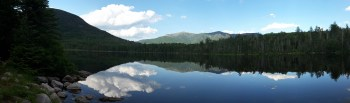 Panoramic of Lonesome Lake July 2016