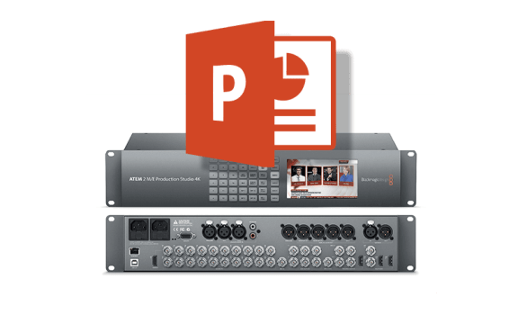 Consider using PowerPoint and Blackmagic ATEM Switchers for a low-cost Character Generator solution