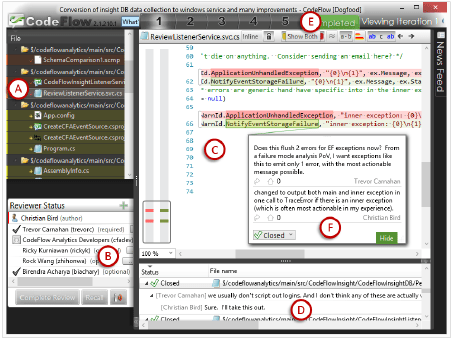 screenshot of codeflow