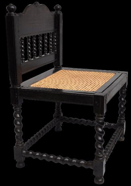 Dutch Colonial Ebony Chair Michael Backman Ltd