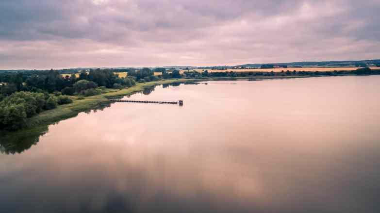 The old drain in Haraldsted lake Denmark