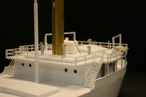 The stern section/engine room and rear cabins