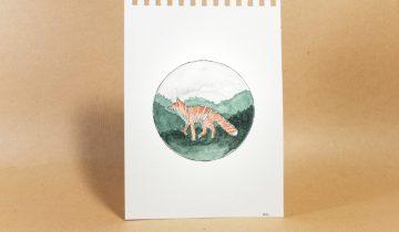 Original artwork | Walking Fox