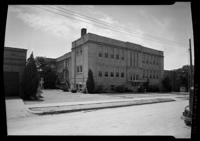 Anderson High in 1955. The second of three buildings.