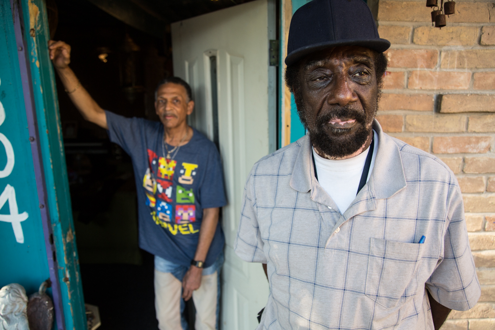 Otis Bell and Wizard at 12th and Chicon. Photo by Otis Ike.