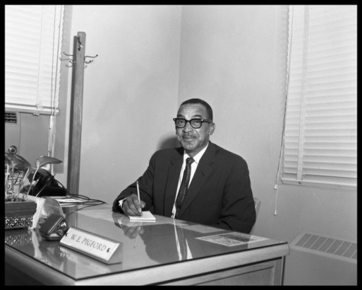Principal Pigford photo by Neal Douglass 1955
