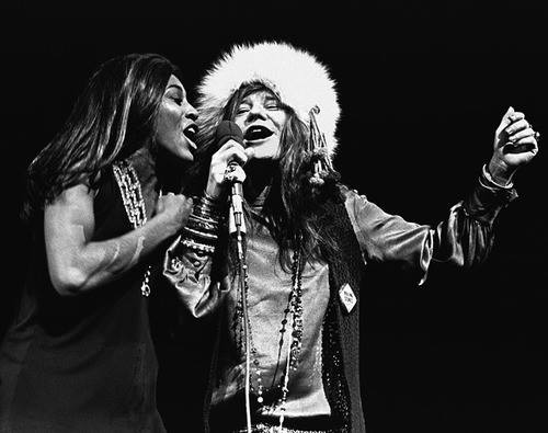 Tina Turner and Janis Joplin 1969