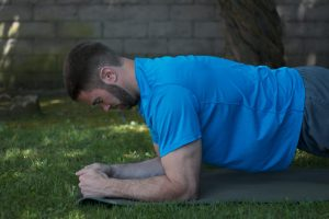 Head down plank exercise