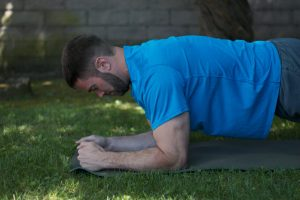 Correct Arm position plank exercise