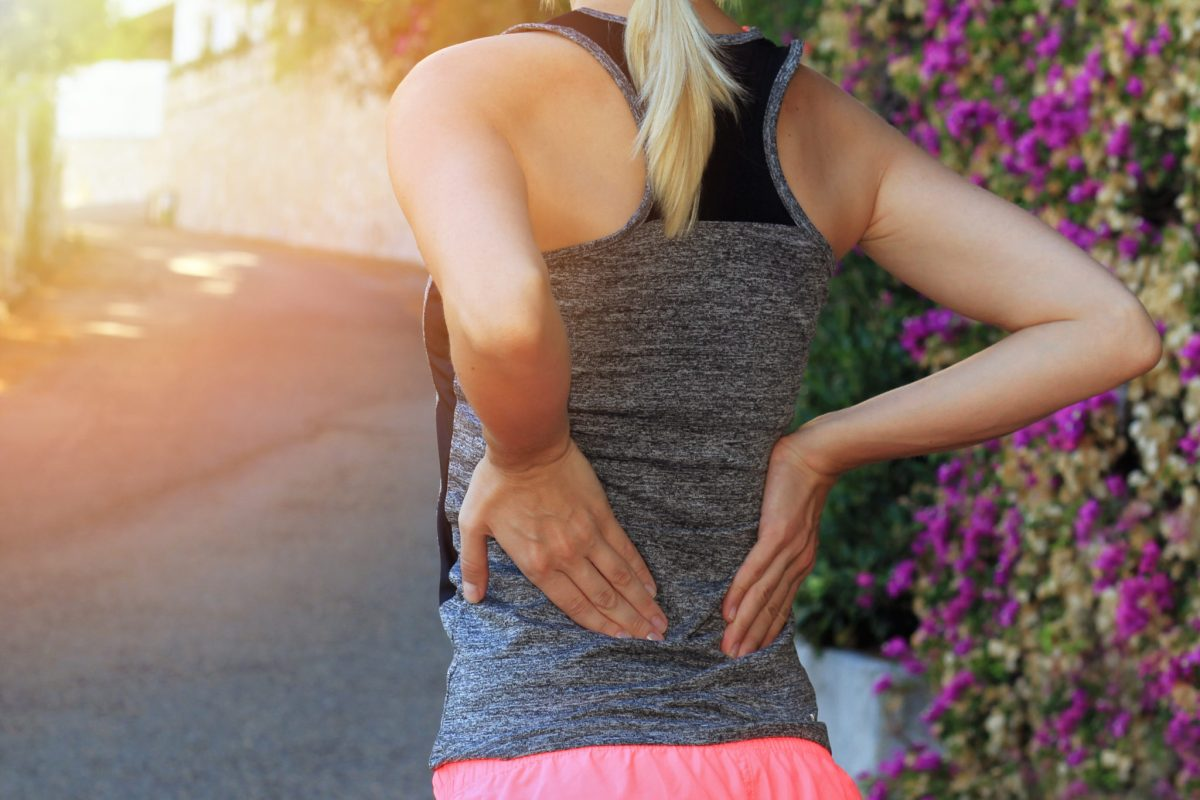Girl with chronic low back pain