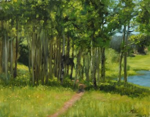 Aspen Grove, 2013, oil on panel, 11x14in (28x35.5cm)