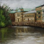 Canal In Gothenberg, 2014, oil on panel, 6x8in (15x20cm)