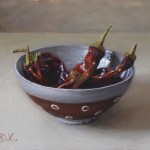 Chili Bowl, 2015, oil on panel, 8x10in (20x25cm)