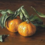 Clementines, 2014, oil on panel, 6x8in (15x20cm)
