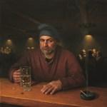 Eavesdropping, 2013, oil on linen, 30x30in (76x76cm)