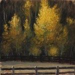 Golden Trees, 2014, oil on panel, 8x8in (20x20cm)