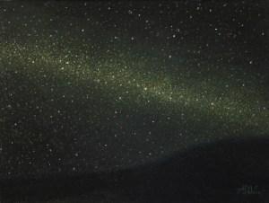Night Sky, 2014, oil on panel, 9x12in (23x30cm)