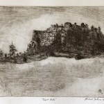 Pulpit Rock, 2011, etching, 10x8in (25.4x20cm)