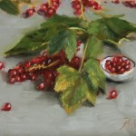 Red Currants, 2014, oil on panel, 6x8in (15x20cm)