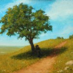 Resting Along the Path, 2013, oil on linen, 8x10in (20x25cm)