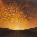 Sky on Fire, 2010, oil on linen, 36x24in (91.5x61cm)