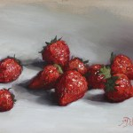 Strawberries, 2015, oil on panel, 6x8in (15x20cm)
