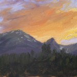 Summit County Sunset, 2015, oil on panel, 8x10in (20x25cm)