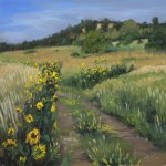Sunflower Path, 2015, oil on panel, 12x12in (30x30cm)