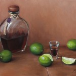 Tequila with Lime, 2015, oil on panel, 12x16in (30x40cm)