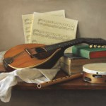 The Attributes of Music, 2014, oil on linen, 20x30in (50x76cm)