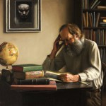 The Burden of Knowledge, 2012, oil on linen, 36x32in (91.5x81cm)