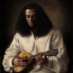 The Mandolin Player, 2011, oil on linen, 29x33in (73.6x83.8cm)
