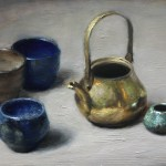 Too Little Tea, 2017, oil on panel, 9x6in (23x15cm)