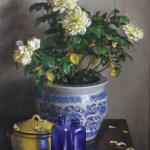 White Roses, 2014, oil on linen, 26x20in (66x50cm)