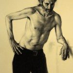 Randall at Rest, 2012, charcoal on paper, 29.5x44in (75x112cm)