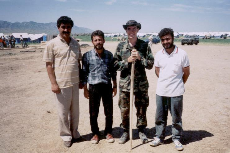 Me and some Kurdish interpreters in Northern Iraq. Ahmed is on the far right.